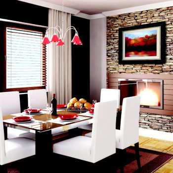 custom picture frames in dining room